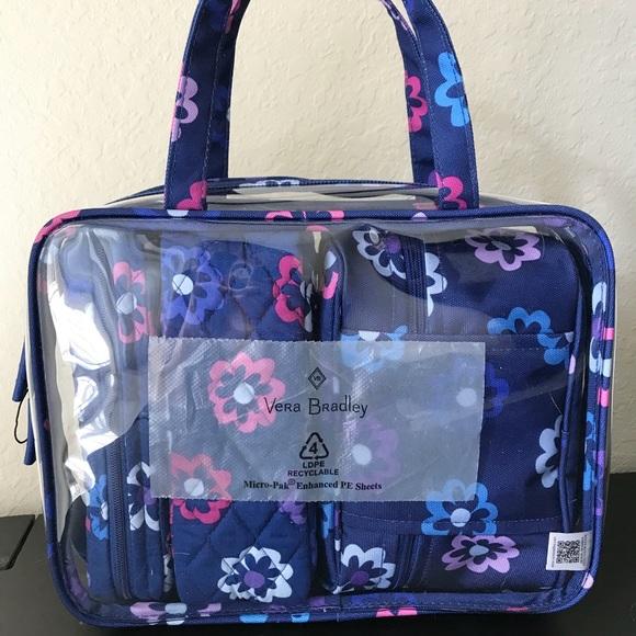 907496a30411 Vera Bradley Bags | 4 Pc Cosmetic Organizer | Poshmark